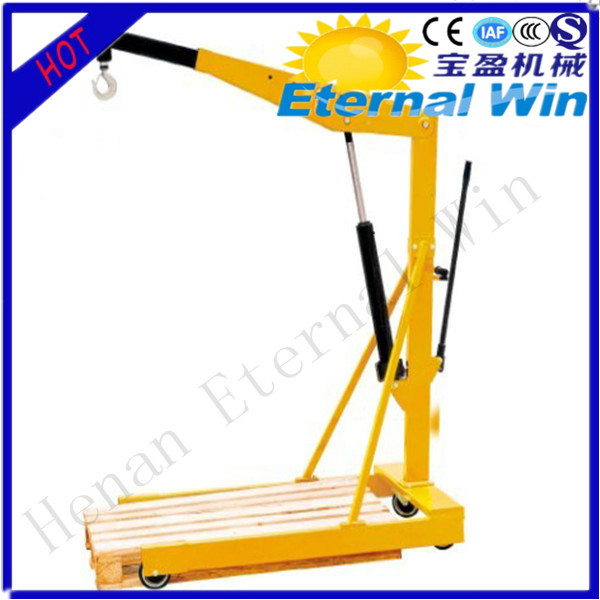 Hydraulic small portable lifting crane