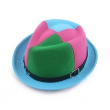 manufacture children mix corlor wool felt panama hat