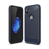 Wholesale Luxury Brushed Carbon Fiber Soft TPU Silicone Back Cover Shell Case for iPhone8