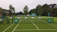 Floor Cover Used Tennis Court Artificial Turf For Basketball Sale
