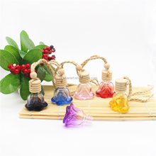 Flower sharp empty hanging car perfume bottle air car freshener