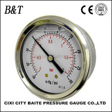 BT-037 High quality bottom connection high pressure all stainless steel gauges