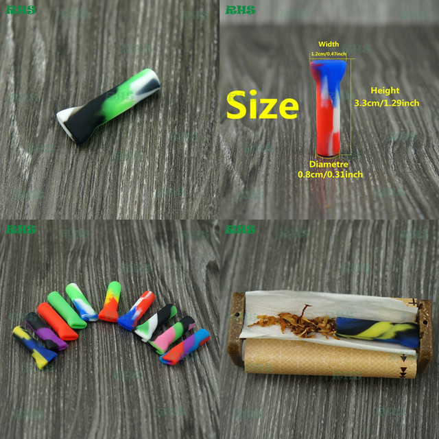 New hot selling silicone filter blunt ! Rasta multi color cigar tips Best filtration and no waste for tobacco smoking