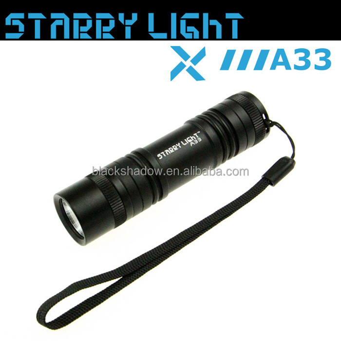 StarryLight A33 AAA battery mini torch led keychain light torch