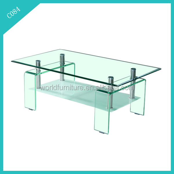clear luxury living room furniture centre glass table