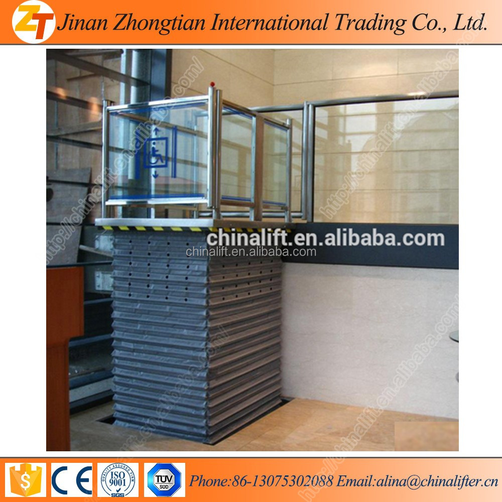 High efficiency hydraulic scissor platform lift Disabled access Lift for sale