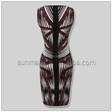 2016 New Arrival Rayon Knitted Sexy Bandage Dress Party Dress For Women
