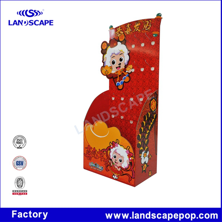 Factory made festive birthday candle hook display stand/countertop paper candle display rack for bithday party