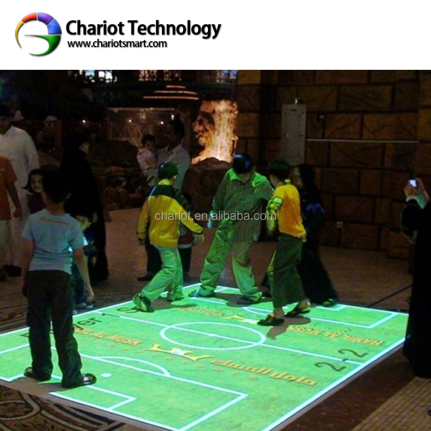 Chariot all-in-one version interactive floor projection system, 3D interactive projector games with low price.