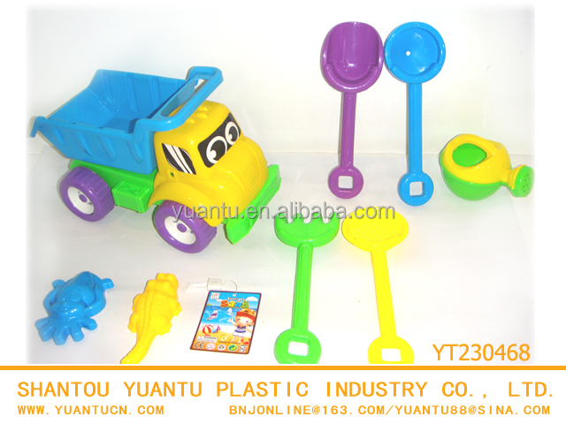 New Beach truck with tools kid beach plastic toys