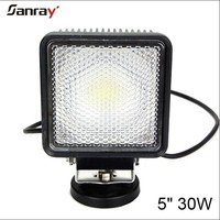 5 inch 30w cob off road led work light motorcycle parts for suv/atv/offroad /4wd/boat