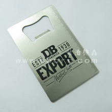 Wholesale Credit card shape stainless steel bottle opener