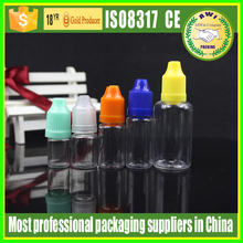 Free shipping 10ml transparent PET e liquid bottles e smoking