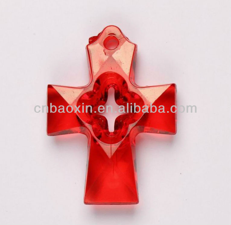 2014 Newstyle jewelry accessories acrylic cross pendant