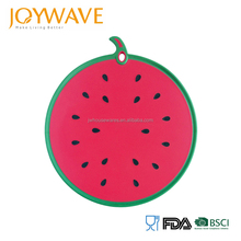 2018 New design fruit watermelon shaped plastic cutting board
