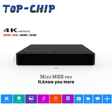 2017 Wholesale MINI M8S PRO Android TV Box 3GB 32GB S912 Octa Core Set Top Box