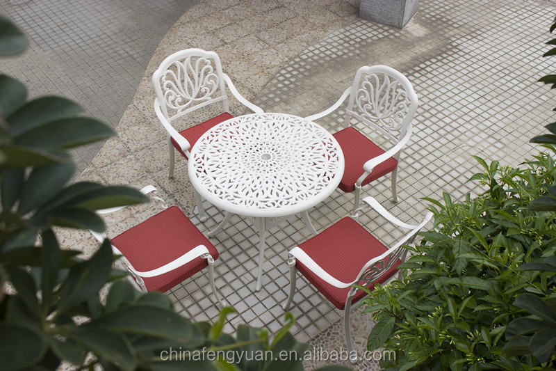Hot Sale cast aluminum patio furniture dining chair and table set