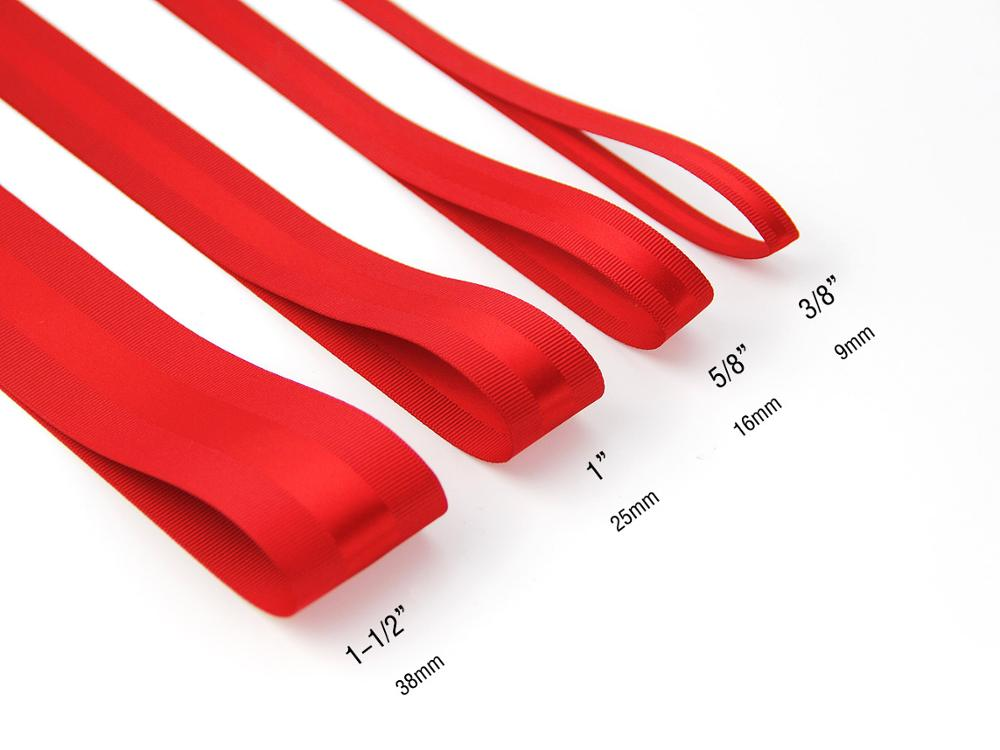 China Factory Newest Product Satin Ribbon With Grosgrain Edged Ribbon