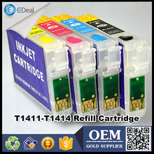 T1411-T1414 ink cartridge for Epson ME32 ME33 ME320 refillable cartridge