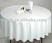 High quality banquet polyester visa table cloth