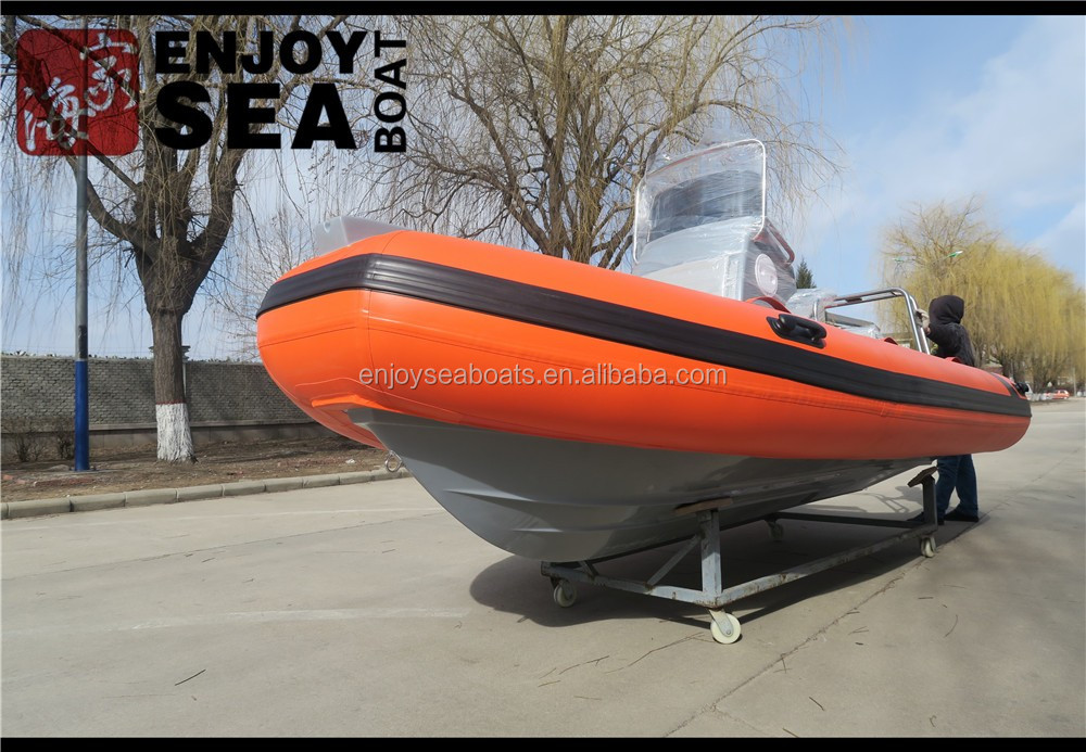 15.4ft 4.7m Hypalon or PVC inflatable RIB boats center small tender yacht with jockey console for sale!
