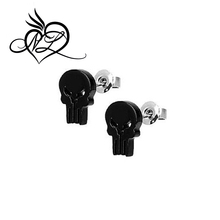 Punisher Marvel Universe 316L Surgical Steel Stud Earrings