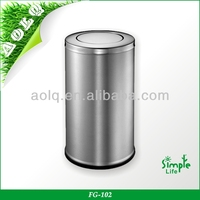 Stainless Steel Double Metal Recycling Leather Waste Bin Garbage Bins