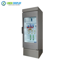 Commercial Advertising Soft Drink 500 cd/m2 43 inch LCD Transparent Display Cooler