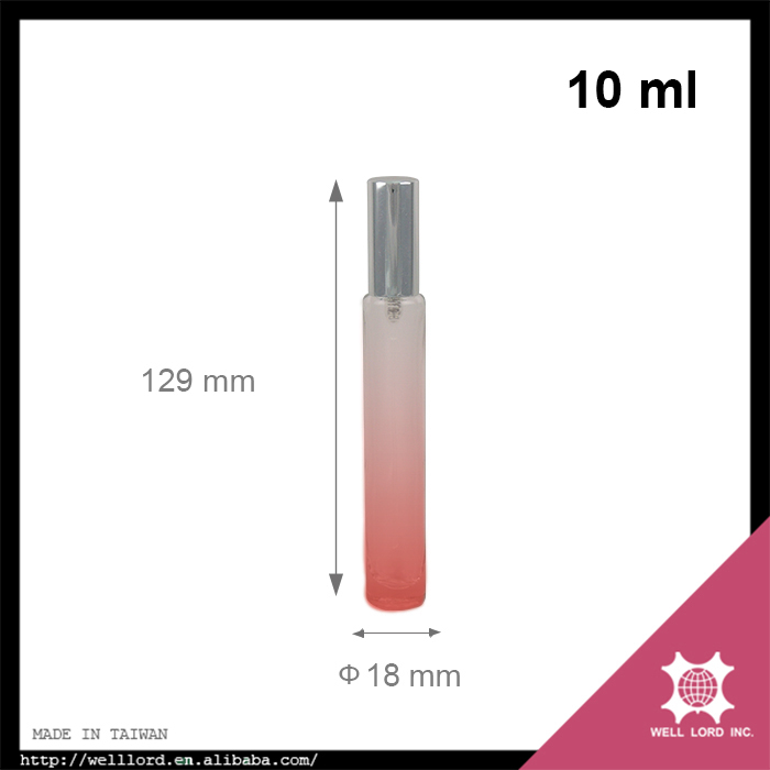 Adorable 10ml pink gradient frosted glass portable perfume spray