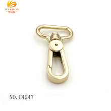 Eco-friendly shiny light gold custom metal fashion bulk purse hook