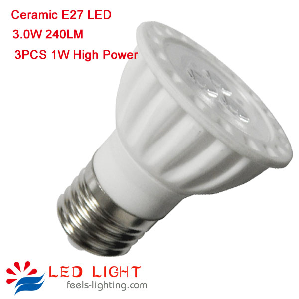high bright ceramic dimmable e27 led spotlight