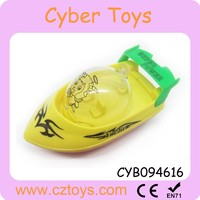 Promotional candy toys cartoon small boat toys for kids