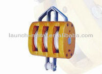 Triple Sheave Wooden Block without shackle