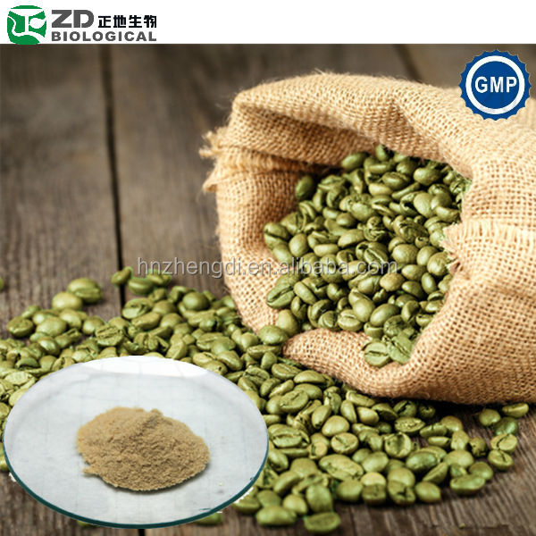 Fat burner supplement green coffee bean extract powder in herbal extract
