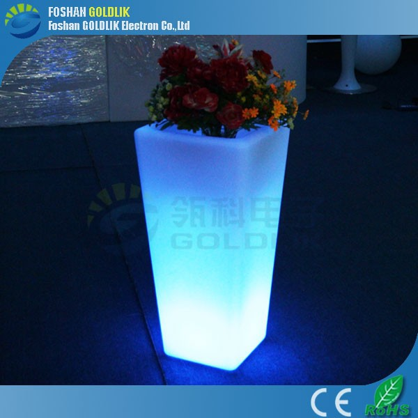 Wifi Control Garden Use Discharge Water Lighted Outdoor Flower Pots