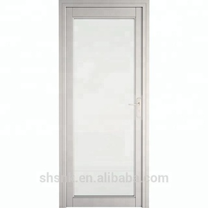 High quality aluminium alloy frame tempered glass interior doors