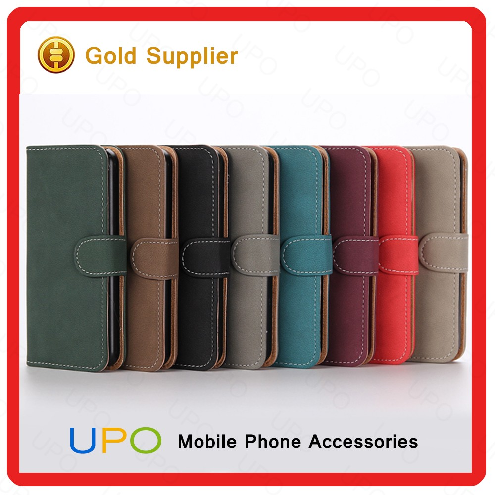 [UPO] High Quality Retro PU Leather with Stand Wallet Cell Phone Case for iPhone 5 5s Wallet Flip Cover with Card Slot