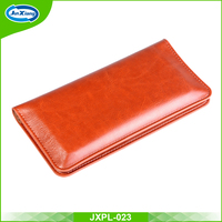 Hot Wholesale Leather Flip 5.5inch Cell Phone Case Wallet Pouch
