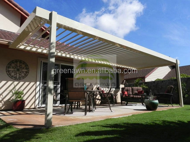 aluminium louver pergola outdoor for sunshade canopy