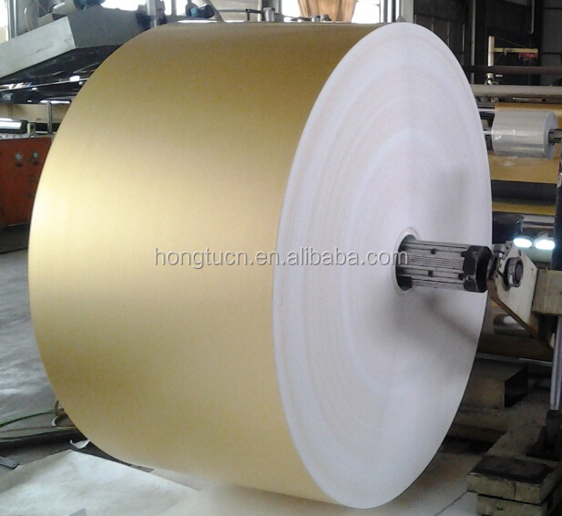 gold aluminium foil backing paper for printing