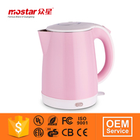 Factory price with plastic handle 1.8L kettle hot water boiler for hotel