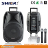 15 inch trolly wireless subwoofer creative vibrator outdoor loudspeaker