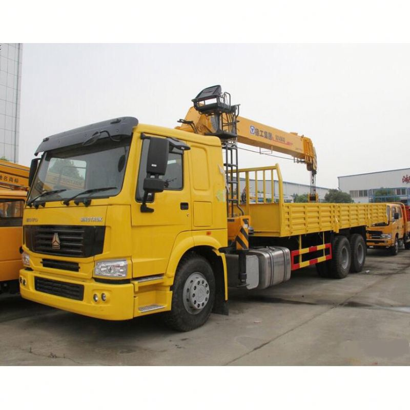 15 m Hoisting Height 10 Ton Dump Truck With Crane