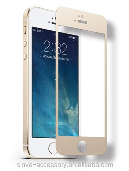 Round edge for iphone 6 tempered screen protector,fingerprint resistant glass screen protector for iphone 6