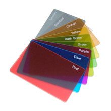 Cheap hard plastic business blank clear plastic cards