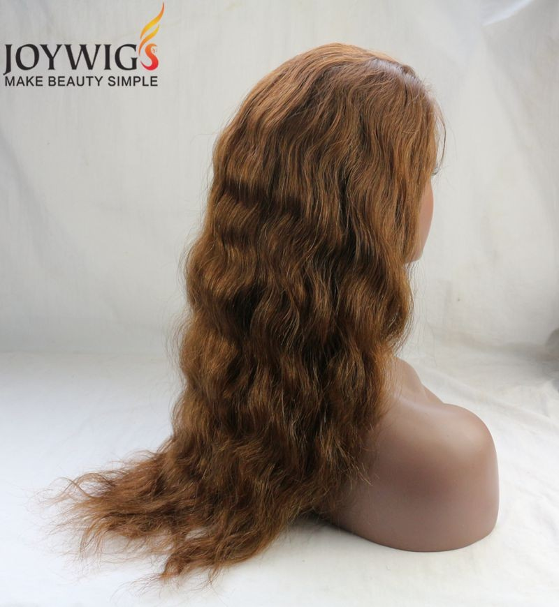 2016 New Fashion Arrival 7A Grade Brazilian Human Hair Water Wave Ombre Colour Glueless Full Lace Wig