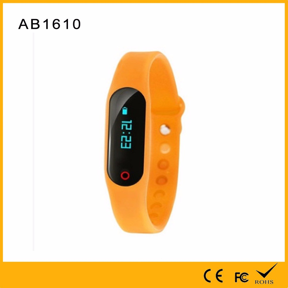 OEM Kinds of Colors Fitness Monitering and Recording Calories Miles Smart Band with Time Display From Factory in Shenzhen
