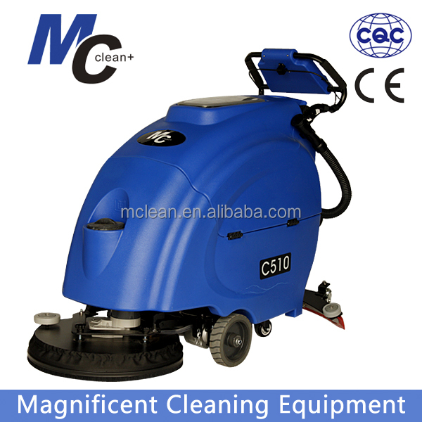 C510 ce approved floor scrubber industrial floor washing for Industrial concrete floor cleaning machines