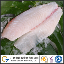 Frozen Black Tilapia Fish Fillet Frozen Super Deep Skinned