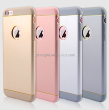 "New Ultra Thin Luxury Aluminum Metal +TPU Mirror Case Cover Engraving Phone Case For Iphone 4.7"" 5.5"""